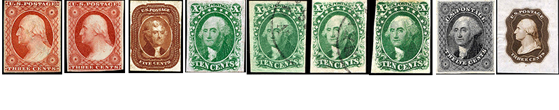 1851 US Postage Stamps