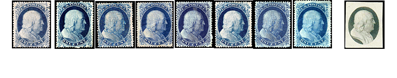 1857 US Postage Stamps