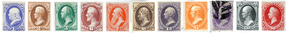 1873 US Postage Stamps