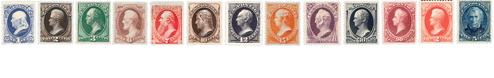 1880 US Postage Stamps