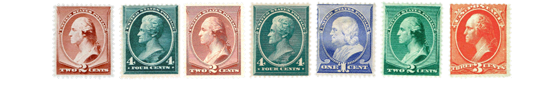 1883 US Postage Stamps