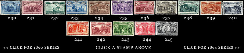 1893 US Stamps Columbians