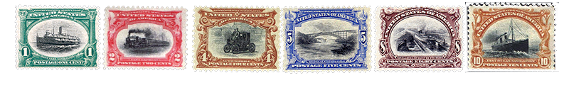 1901 US Postage Stamps