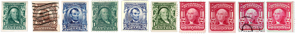 1903 US Postage Stamps