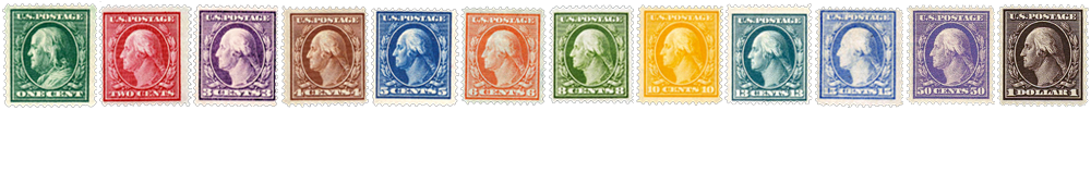 1908-09 US Postage Stamps