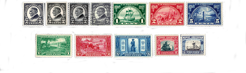 1924 US Postage Stamps