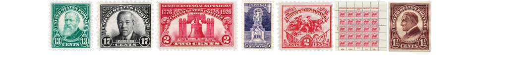 1923 US Postage Stamps