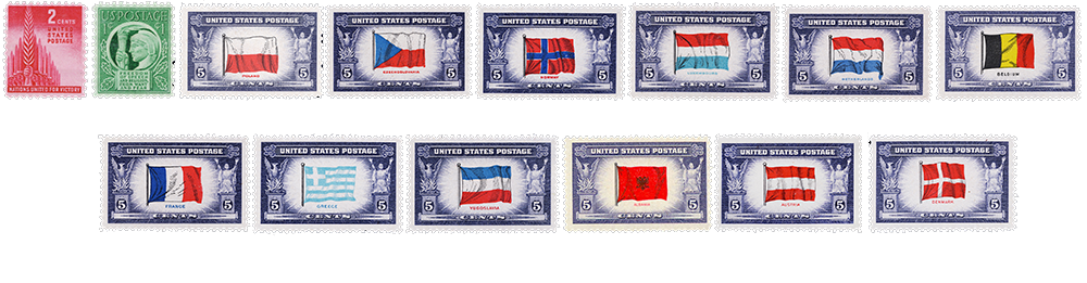 1943 US Postage Stamps