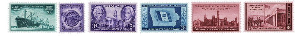1946 US Postage Stamps
