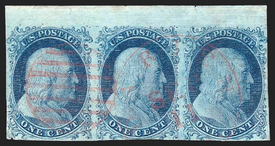 5-5A strip Scotts - US Postage Stamps