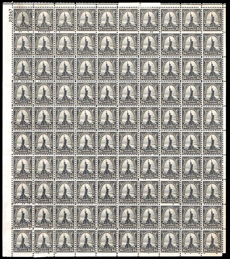 US stamp 696 sheet