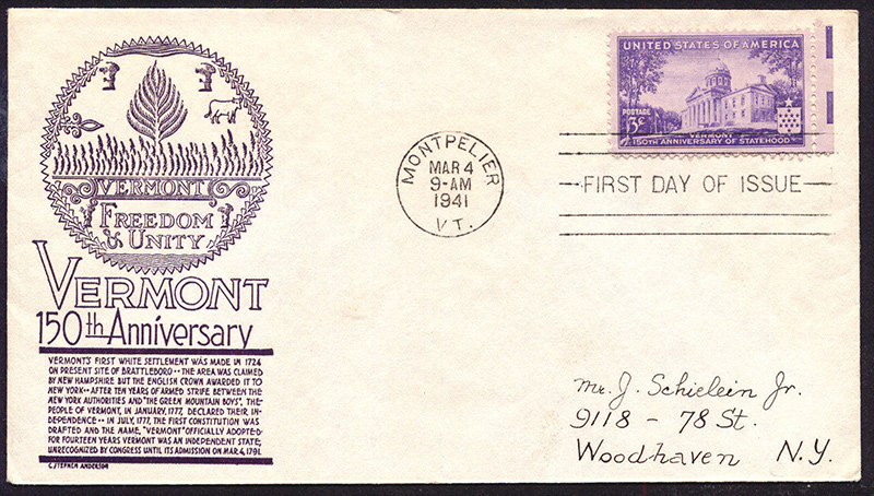 US stamp 903 first day cover fdc