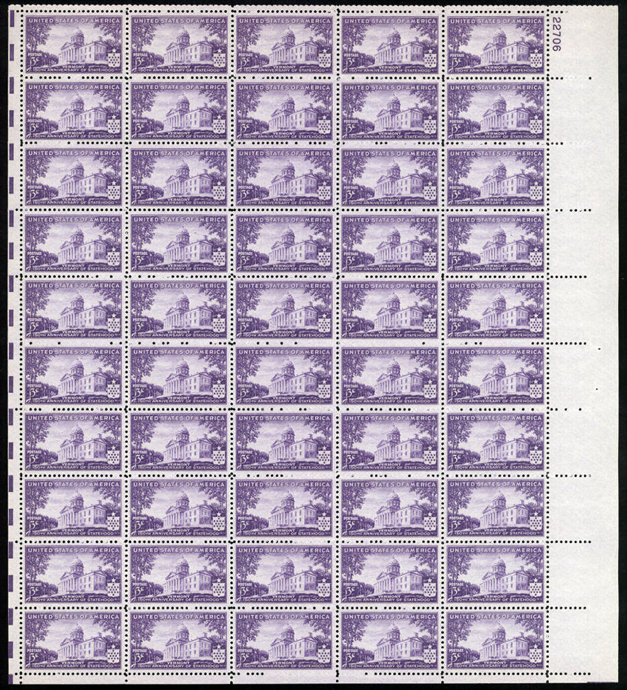 US stamp 903 sheet