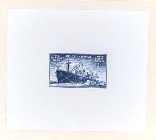939 Trial Color Proof Stamp