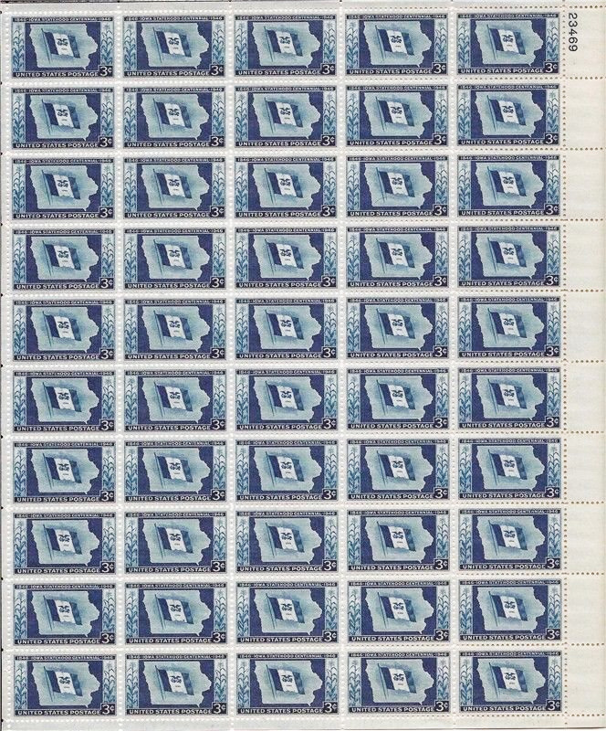 US stamp 942 sheet