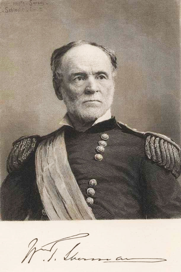 general william tecumseh sherm essay Find out more about the history of william tecumseh sherman, including videos, interesting articles, pictures, historical features and more his military career had not always been so outstanding as commanding general of the department of the cumberland, 1861-1862, he feuded with the press, displayed emotional.